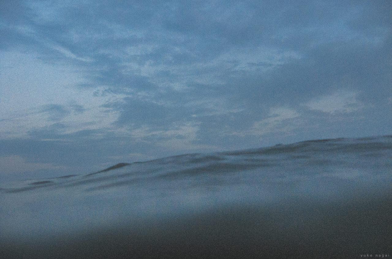 A forming ocean wave.