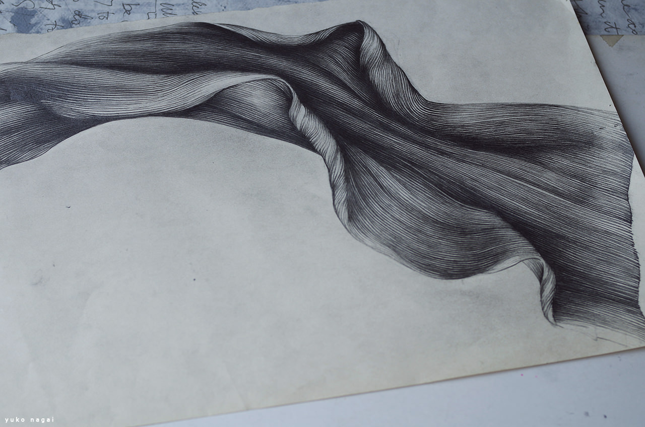 An abstract flower pencil drawing.