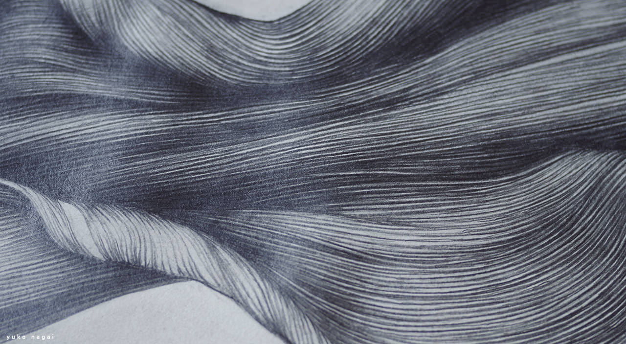 An abstract flower petal drawing.