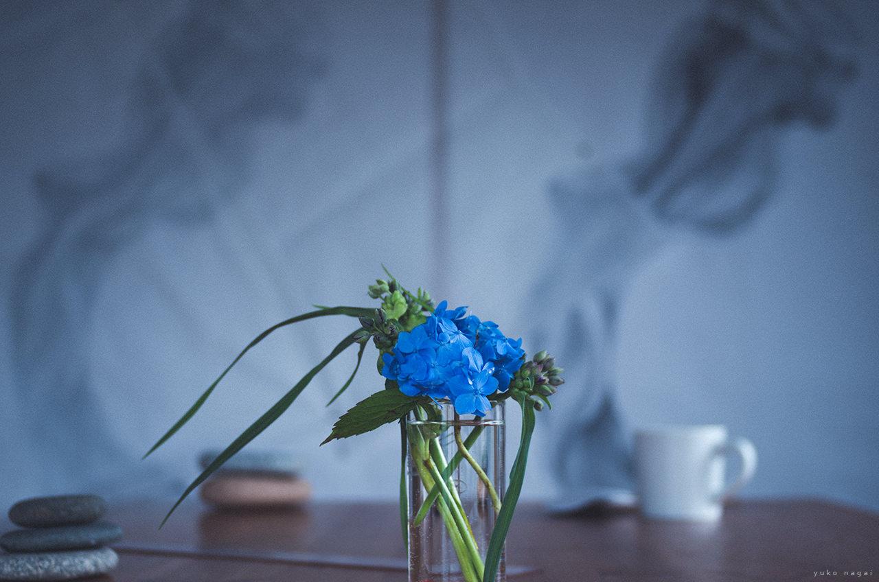 A flower bouquet in art studio.
