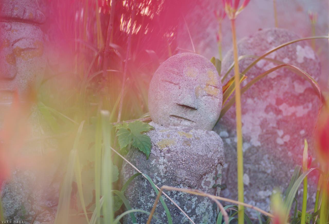 A Jizou rock statue.