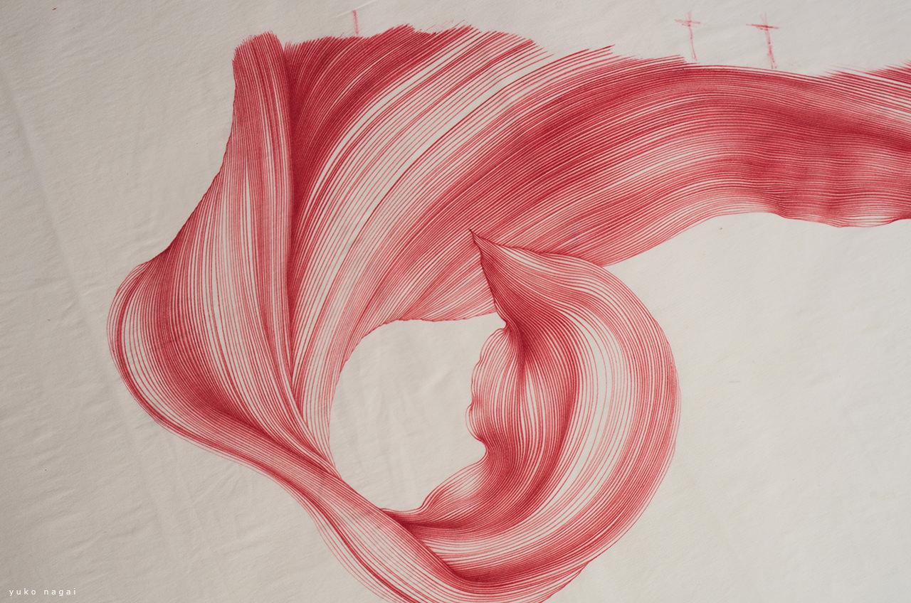 A flower petal dye drawing.