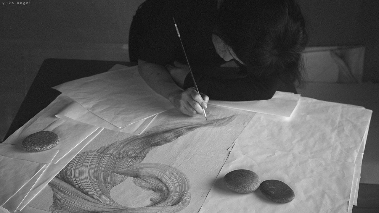 An artist at work.