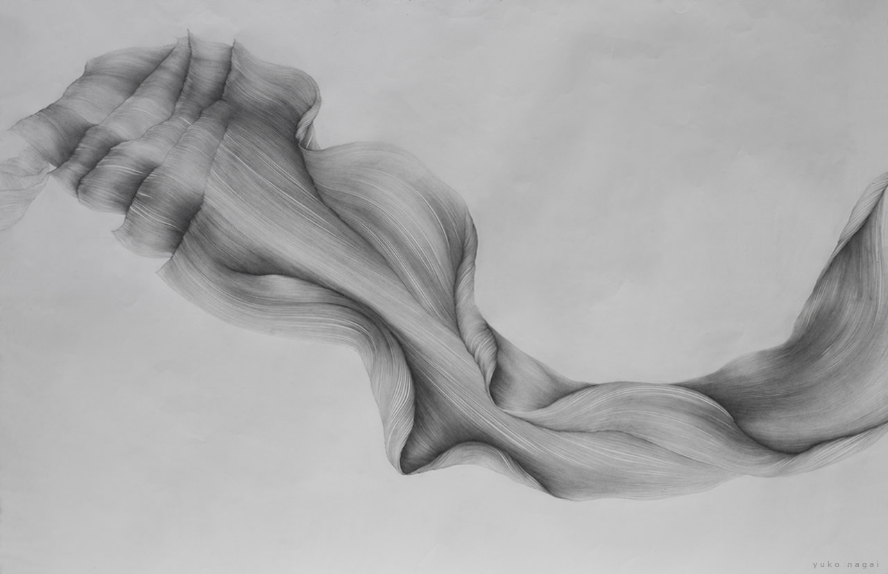 An abstract flower drawing.