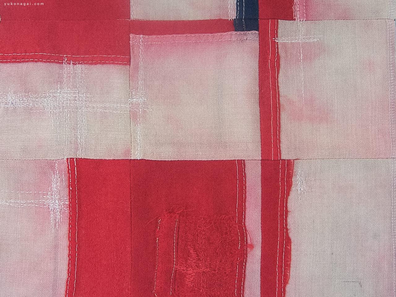 A abstract vintage textile purse.