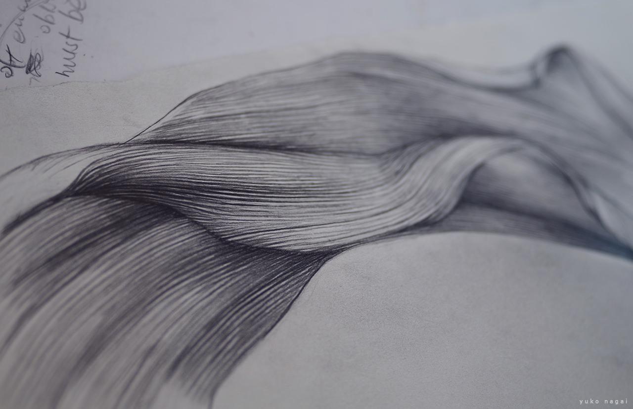A flower petal study sketch.
