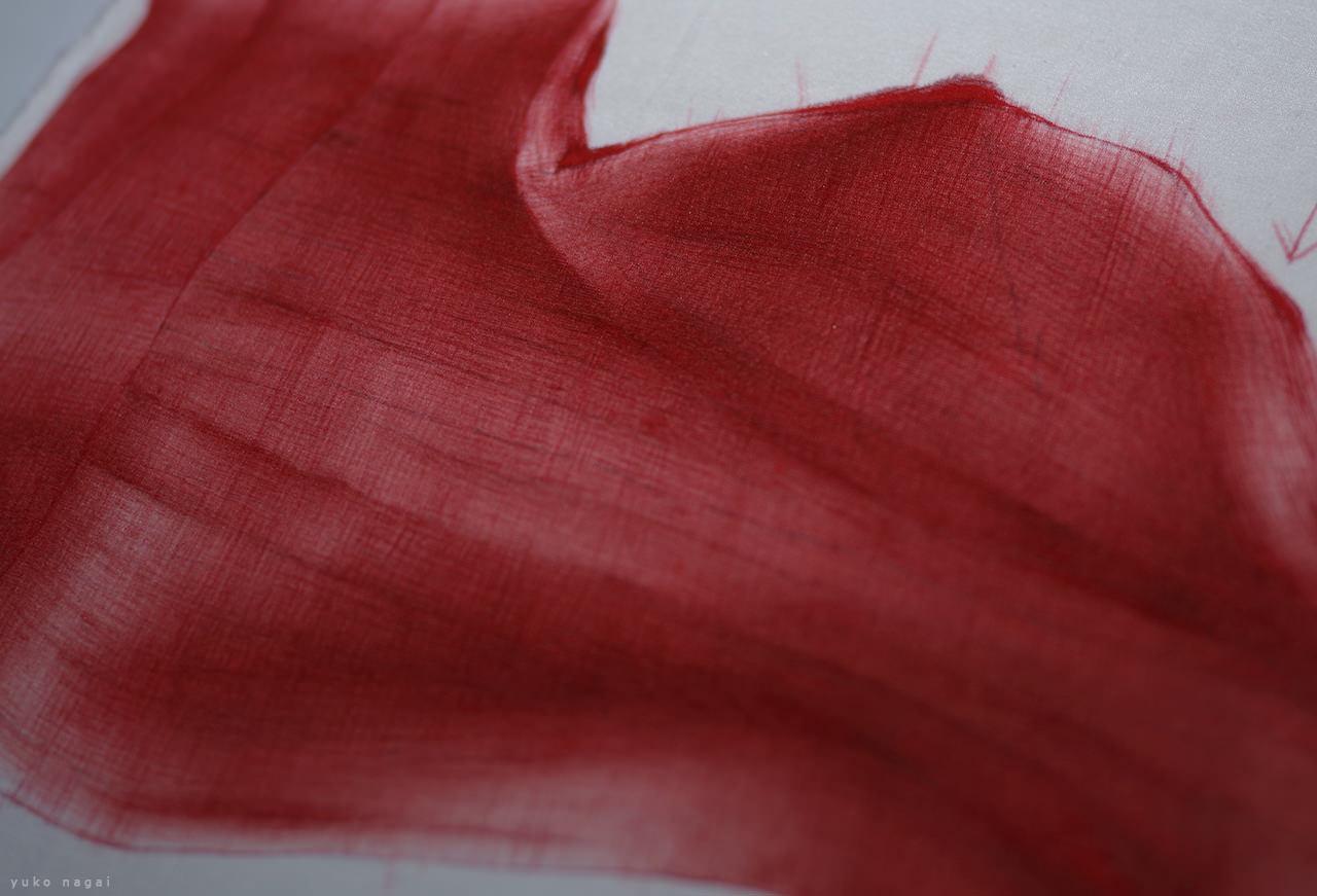 Test painting on silk.