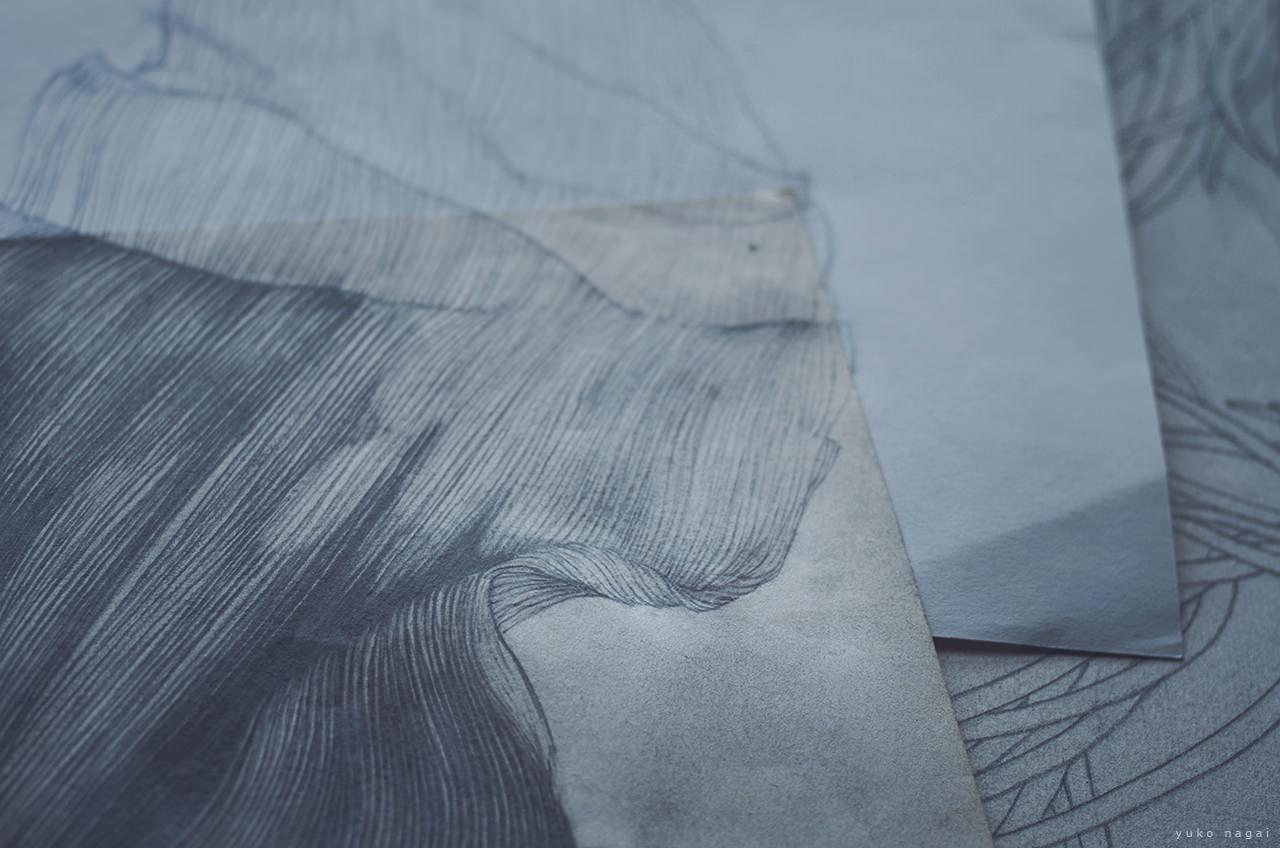 A drawing in progress.