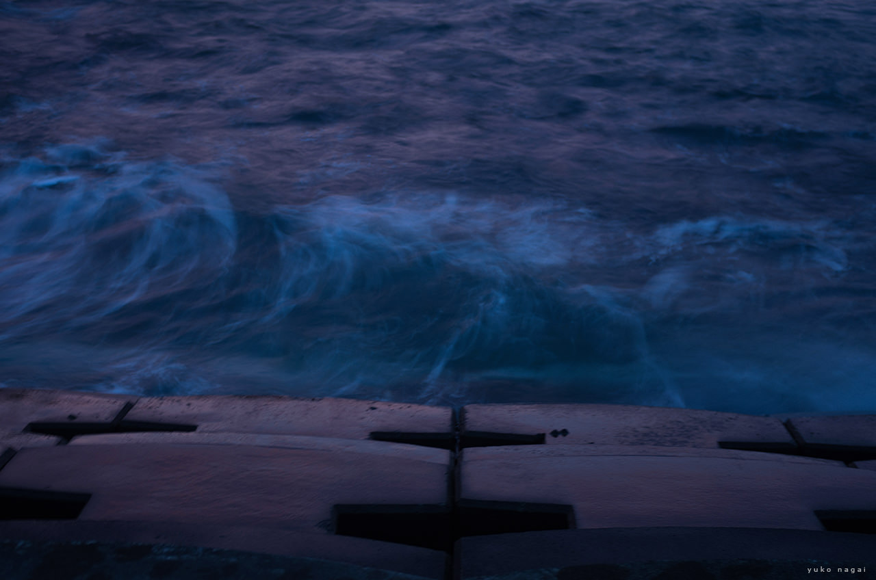 Seaside at sundown.