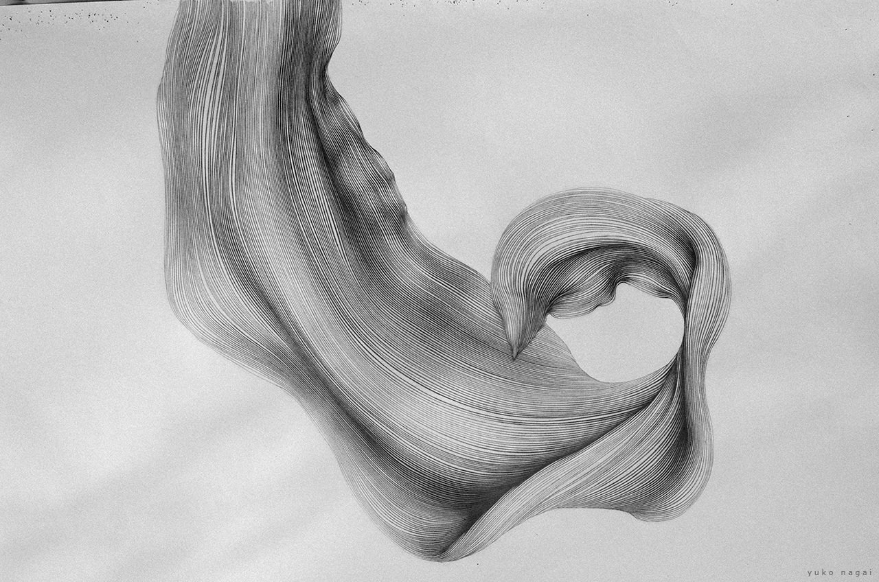 An abstract spider lily petal drawing.