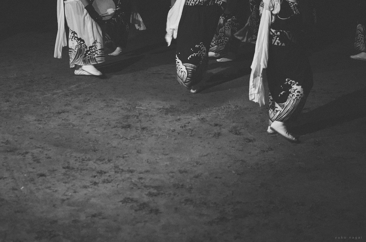 Dancers at a Japanese matsuri.