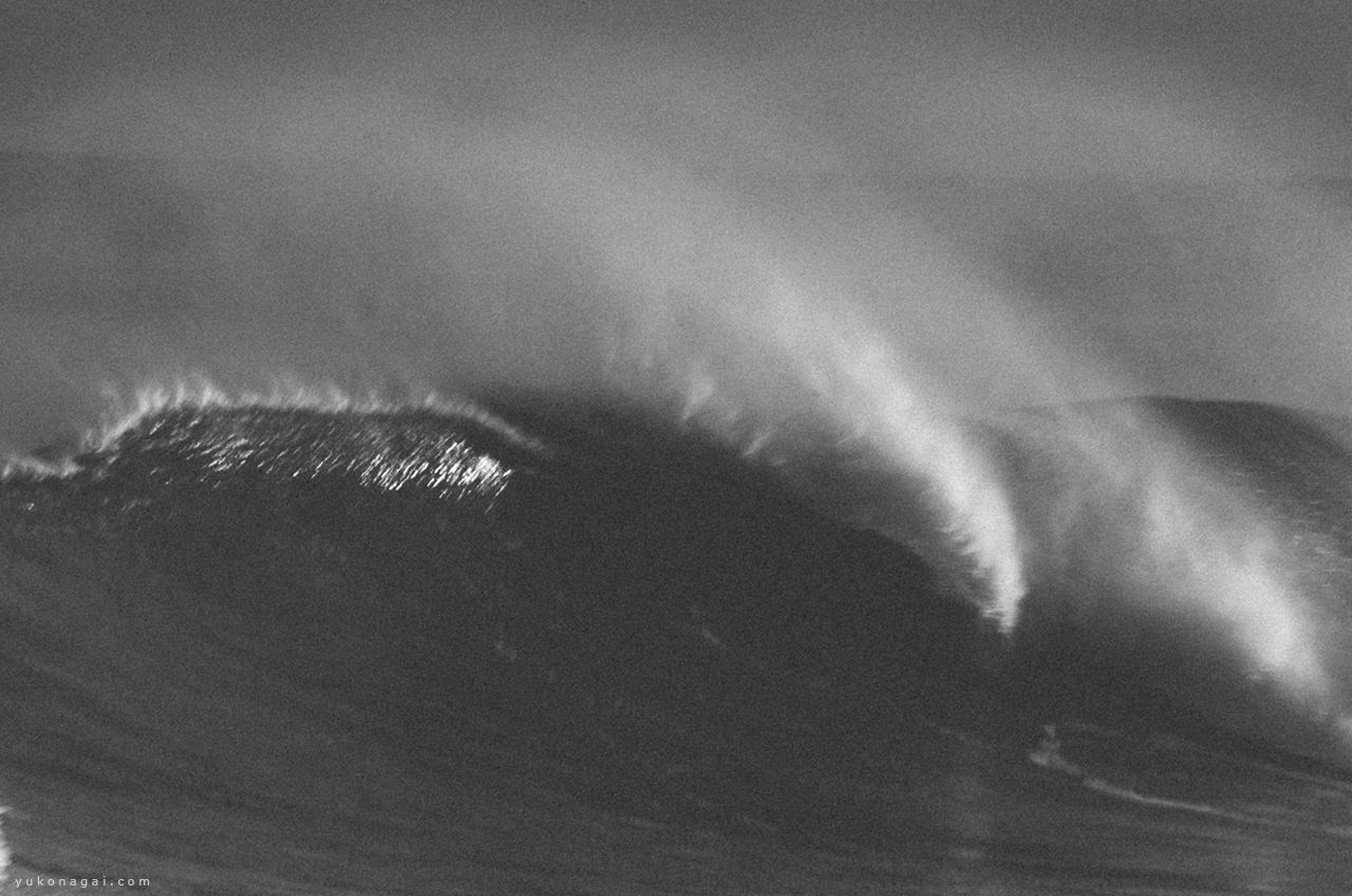 A wave crest in dynamic movement.