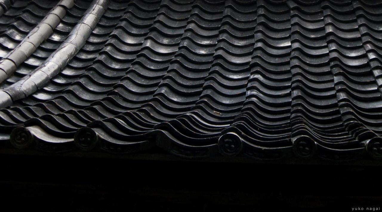Japanese ceramic roof tiles.