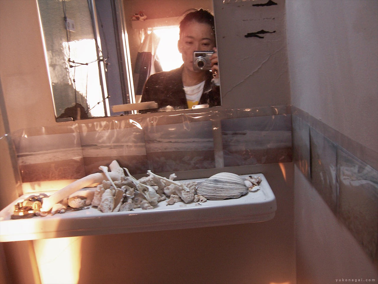 Self portrait with shells.