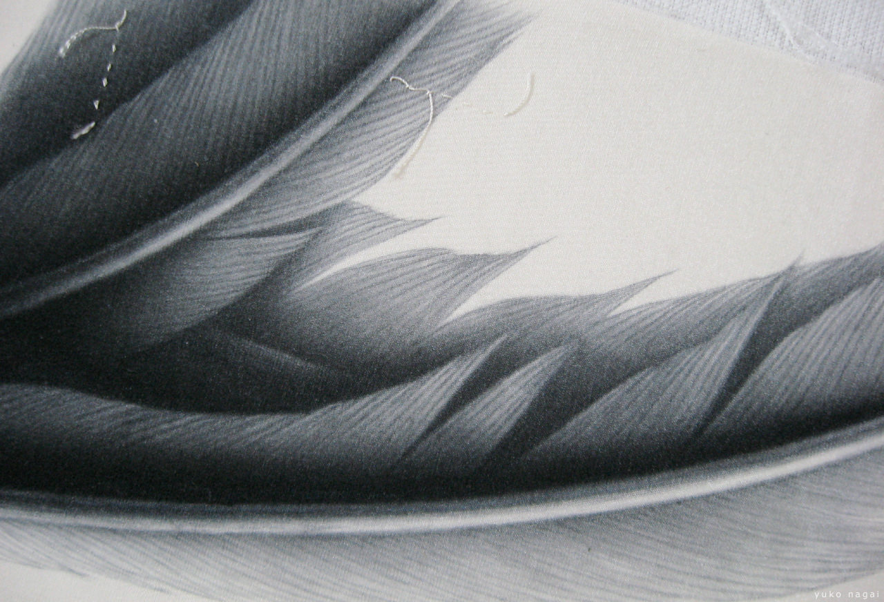A wing painting on silk.