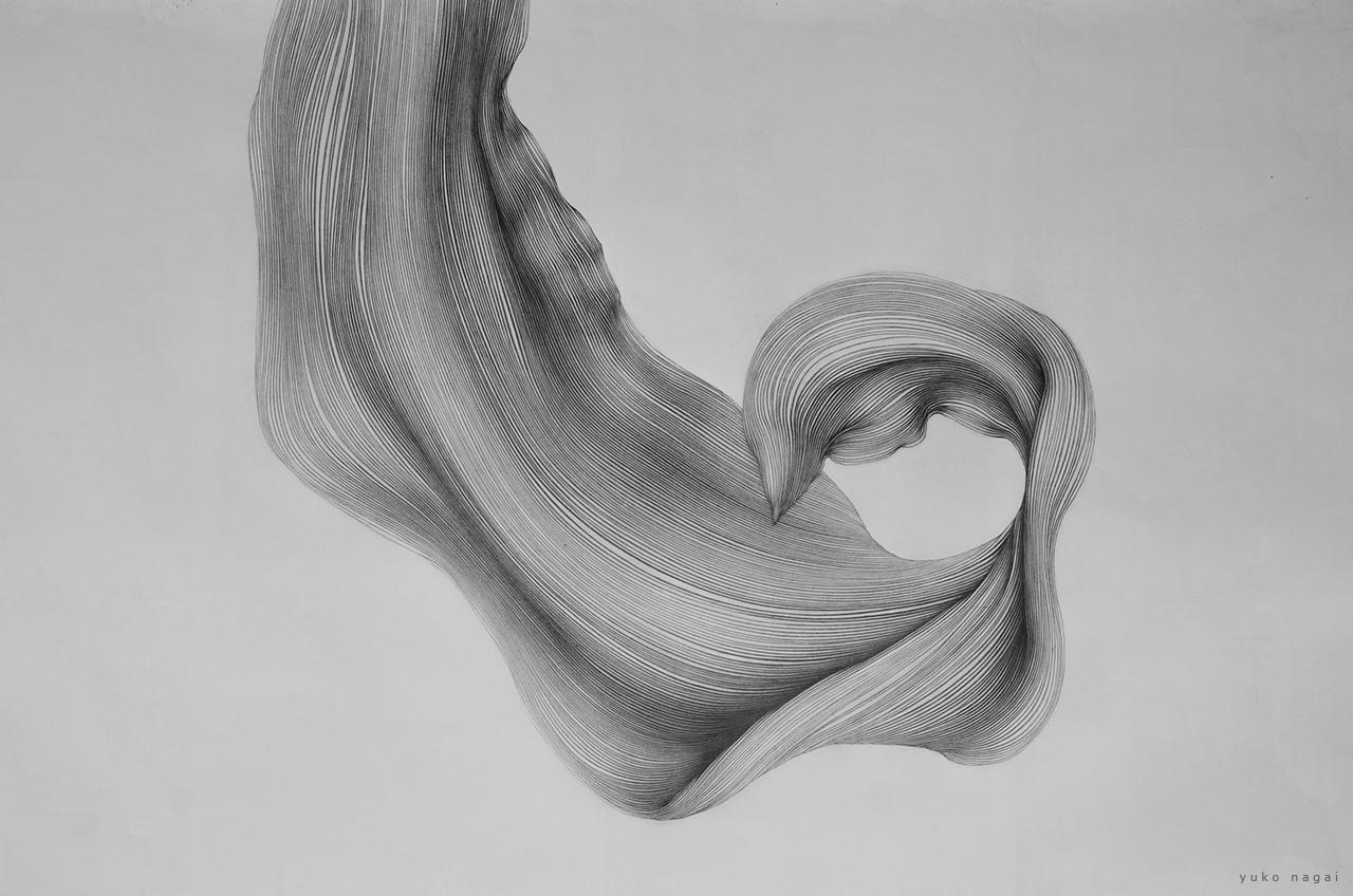 An abstract pencil drawing.