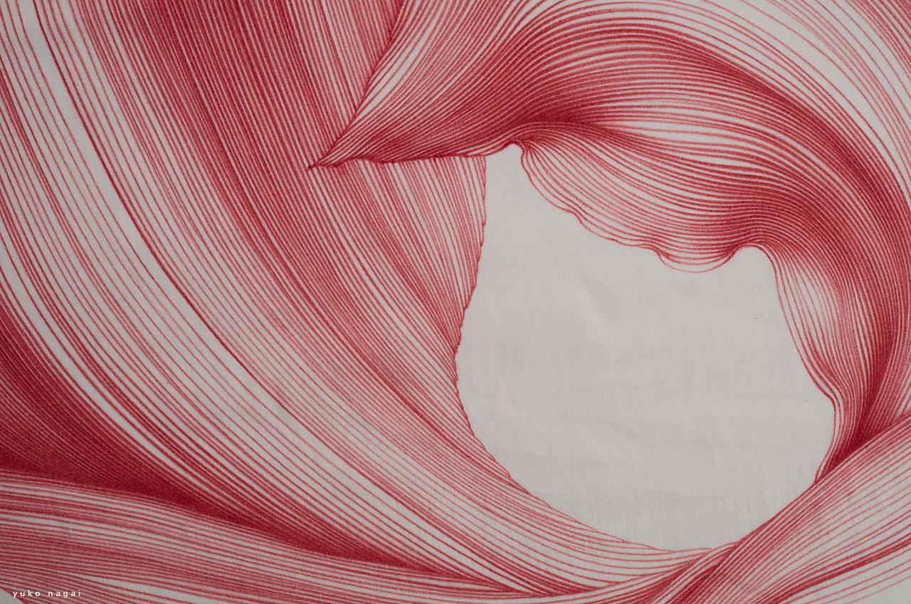 A flower petal dye drawing detail.