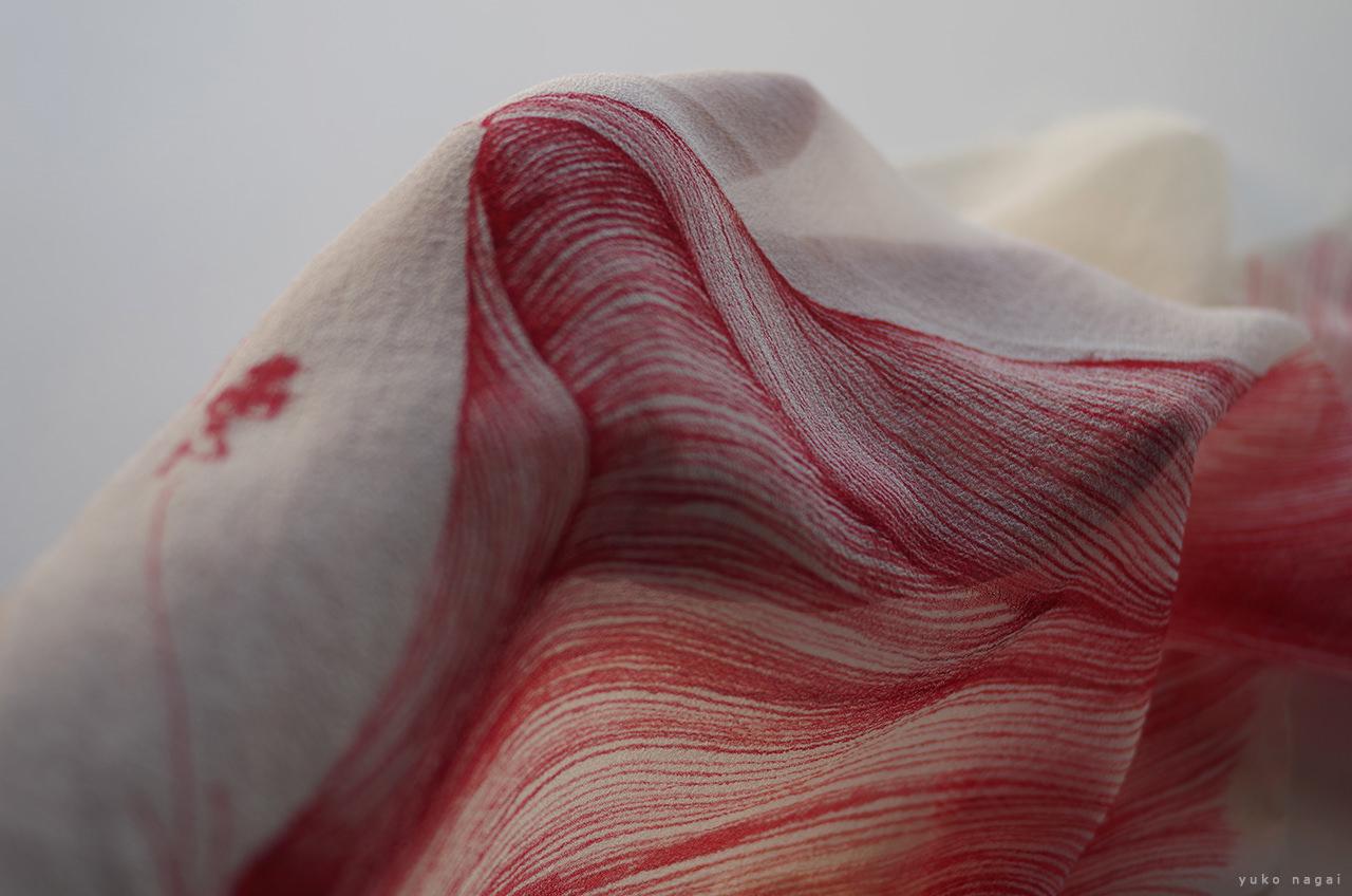An artist's hand and a dye work.