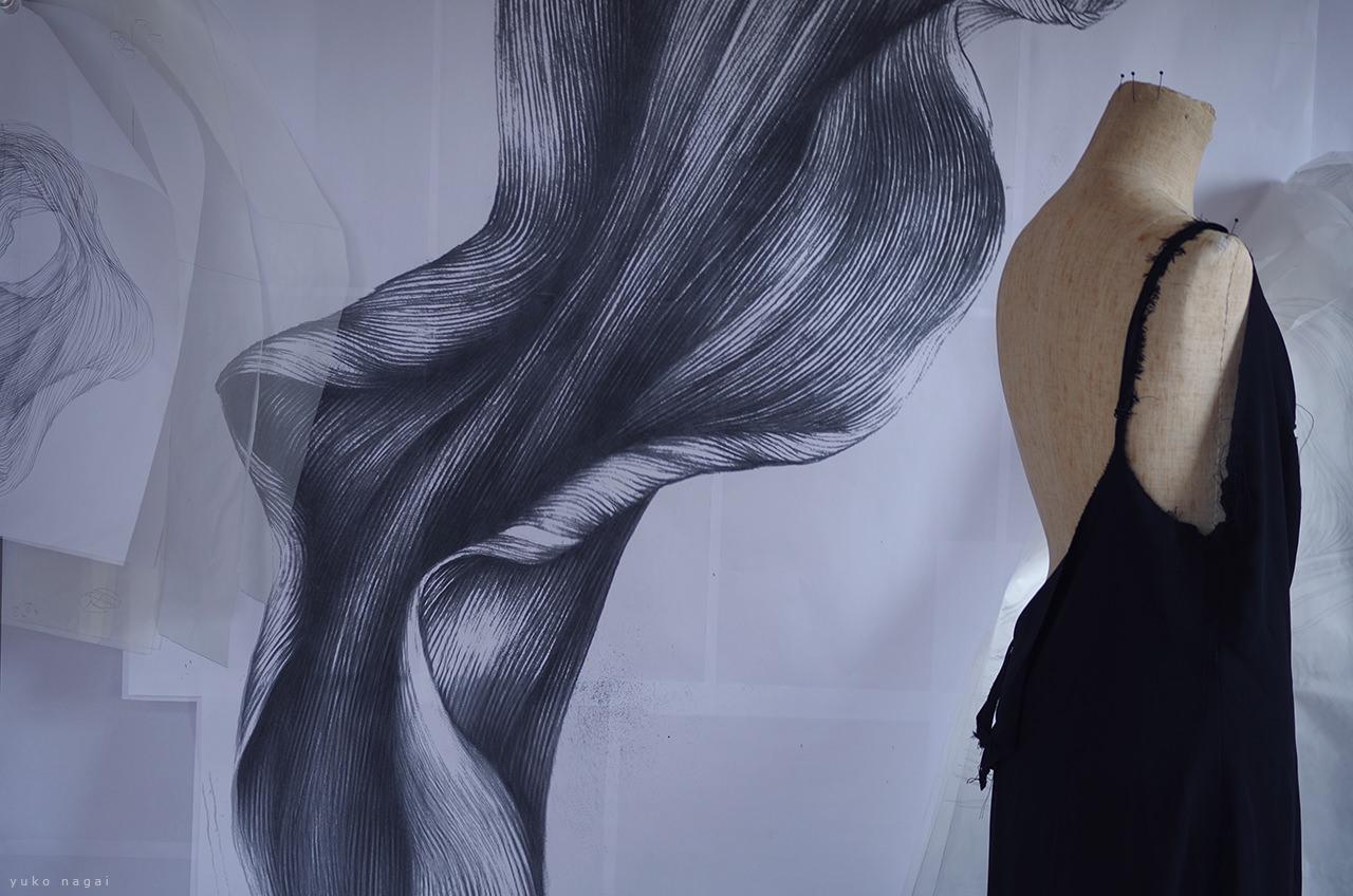 Art works in studio.