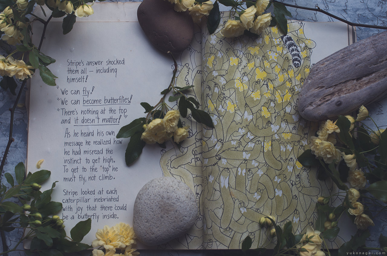 Yellow roses,and a book.