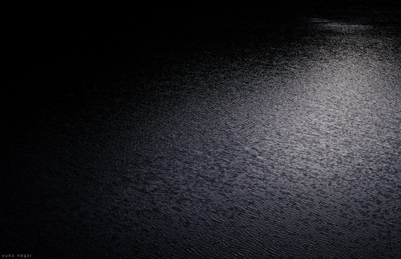 Lake water surface with ripples.