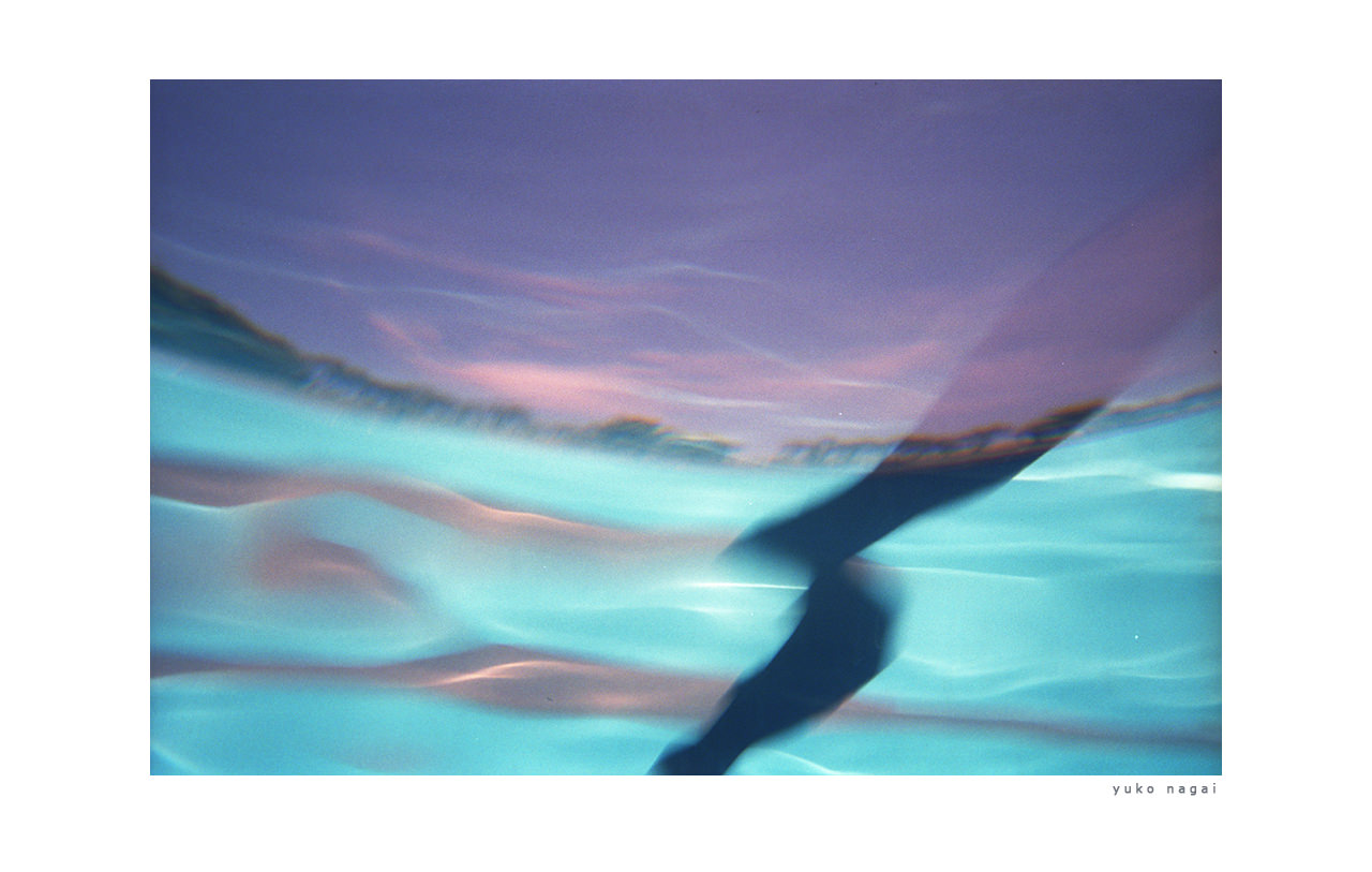 Abstract image of a swimming pool.