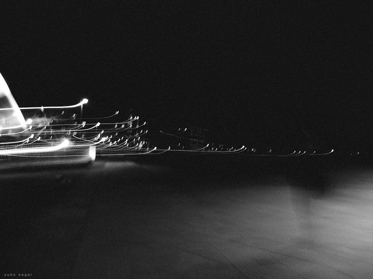 Lights at a night port.