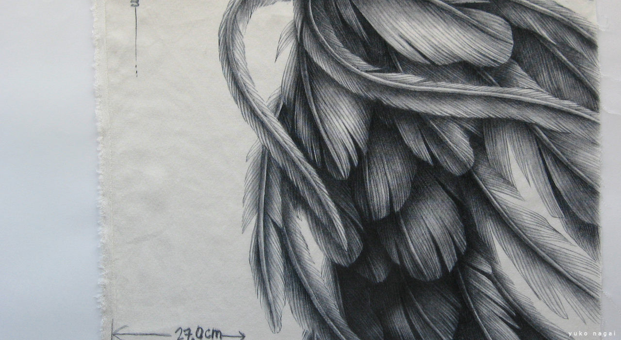 Wing painting on silk.
