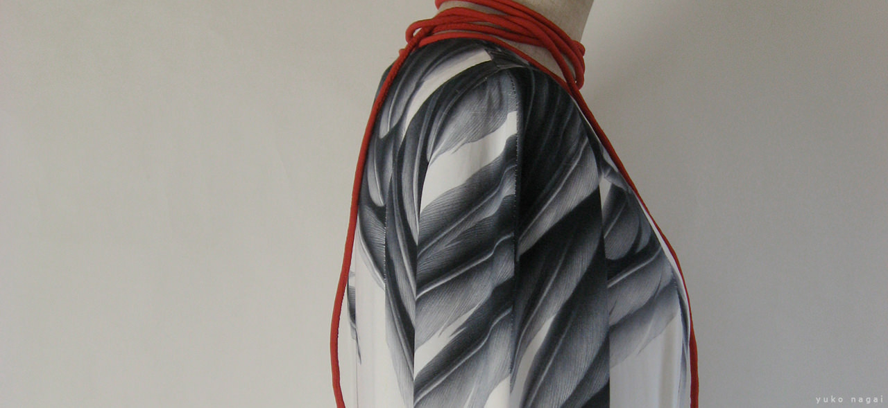 Wing painted on a dress.