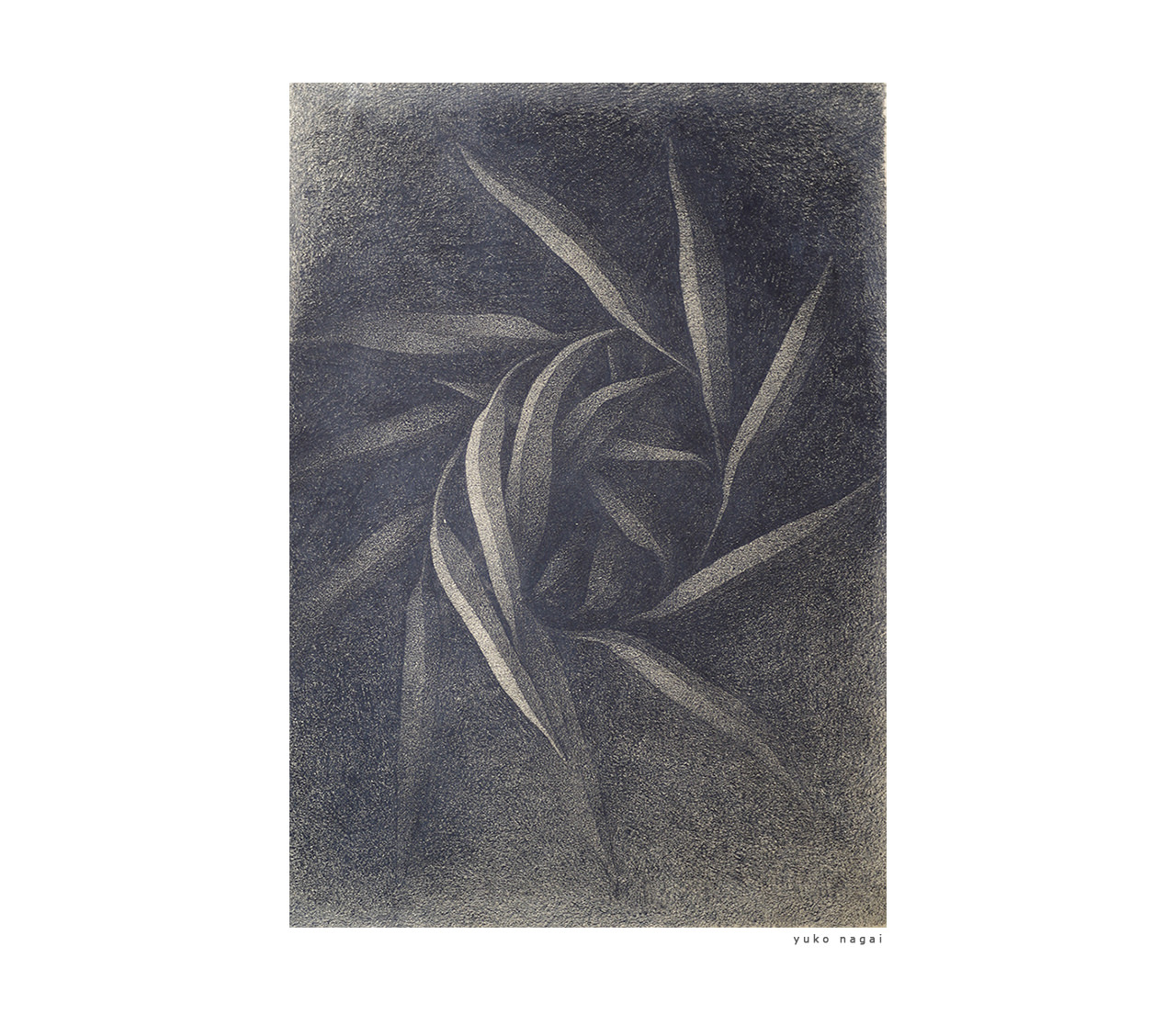 A pencil drawing of a wreath.
